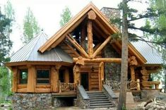 Small log cabin made of massive logs. :)) https://www.quick-garden.co.uk/log-cabins.html