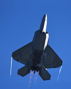A 325th Fighter Wing F-22 Raptor performs a vertical take off at Tyndall Air Force Base, Fla., March 31, 2017. The Raptor performs both air-to-air and air-to-ground missions allowing full realization of operational concepts vital to the 21st century Air Force. (U.S. Air Force photo/Airman 1st Class Cody R. Miller)