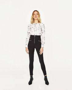 ZARA - WOMAN - PRINTED BLOUSE WITH FRILL