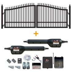 Mighty Mule Gates: 14 Ft. X 6 Ft. Biscayne Dual Driveway Gate With Dual Swing…