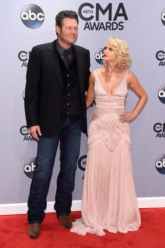 Blake Shelton and Miranda Lambert attend the 48th annual CMA Awards at the Bridgestone Arena on November 5, 2014 in Nashville, Tennessee.