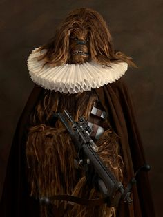 Photographer Sacha Goldberger has reimagined comic-book heroes and Star Wars characters in the style of old masters, in his photo series 'Super Flamands'