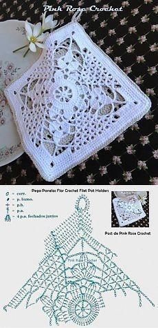 Transcendent Crochet a Solid Granny Square Ideas. Inconceivable Crochet a Solid Granny Square Ideas. Crochet Motifs, Granny Square Crochet Pattern, Crochet Diagram, Crochet Chart, Crochet Squares, Thread Crochet, Love Crochet, Diy Crochet, Crochet Doilies