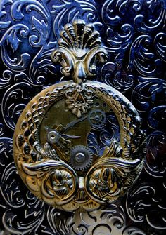Steampunk Art Nouveau Style Timepiece Cigarette Case - 01 by Two Altered Visions, via Flickr
