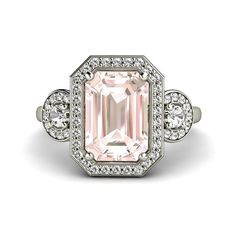 Absolute dream engagement ring!!  https://www.etsy.com/listing/185819652/pink-morganite-engagement-ring-emerald