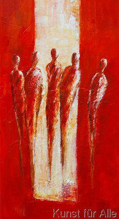 Petra Schüßler - Fünf Figuren in Rot II