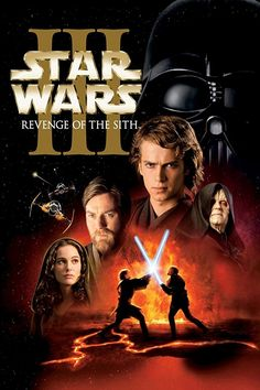 Star Wars Episode III: Revenge Of The Sith (Widescreen) on DVD from Century Fox. Directed by George Lucas. Staring Natalie Portman, Hayden Christensen, Ian McDiarmid and Ewan McGregor. More Space, Science Fiction and Star Wars DVDs available @ DVD Empire. Star Wars Iii, Film Star Wars, Star Wars Watch, Hd Movies, Movies Online, Movie Tv, Disney Movies, Images Star Wars, Star Wars Pictures
