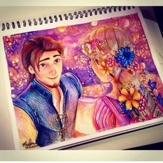 Oh. My. Shakespeare. Can someone teach me how to make such magic happen just with colored pencils?!