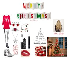 Merry Christmas! by starlyla on Polyvore featuring WithChic, re:named, Talbots, Yves Saint Laurent, Casetify, Jouer, NARS Cosmetics, Improvements and Meri Meri