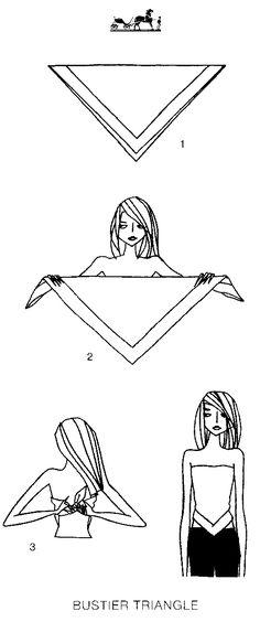 transforming a scarf