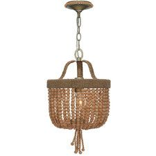 Small Eva Beaded Chandelier, Jute and Wood -- This all-natural beauty will illuminate any space with rustic elegance. Each chandelier is meticulously crafted using strands of jute thread and wood beads. Beaded Chandelier, Mini Chandelier, Chandelier Lighting, Chandeliers, Rustic Elegance, The Ranch, Coastal Decor, Coastal Entryway, Coastal Lighting