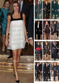This dress on Queen Letizia is dreamy! So beautiful!