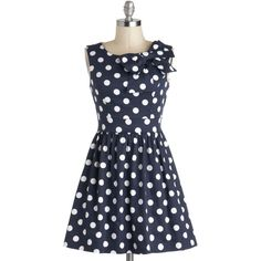 Pinup Short Length Sleeveless Fit & Flare The Pennsylvania Polka Dress (1,145 MXN) ❤ liked on Polyvore