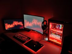 moved in the new house today set my new rig up (I know the cable management is a. moved in the new house today set my new rig up (I know the cable management is ass) – battlestati Gaming Desk Setup, Best Gaming Setup, Gamer Setup, Computer Setup, Pc Setup, Computer Lab, Gamer Room, Pc Gamer, Simple Computer Desk