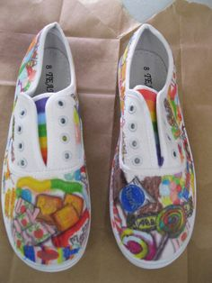 Candyland Shoe by RubberSoleShoes on Etsy, $45.00