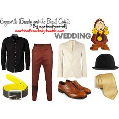 """""""Cogsworth (Beauty and the Beast) Wedding Outfit"""" by martinafromitaly on Polyvore"""