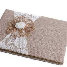 rustic guest book for wedding | Rustic Lace and Burlap Guest Book - ❤️❤️❤️ This