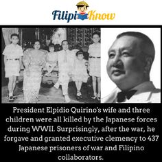 70 Amazing Trivia and Facts About the Philippines that Will Blow Your Mind Presidents Wives, Prisoners Of War, Three Kids, Filipino, Trivia, Forgiveness, Wwii, Philippines, Mindfulness