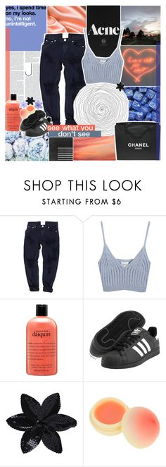 """""""[🖤] MY HANDS ARE TIED"""" by korekara ❤ liked on Polyvore featuring Mon Cheri, OneTeaspoon, Chicnova Fashion, philosophy, Chanel, adidas Originals, ASOS and TONYMOLY"""