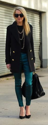 love the teal pants