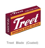The family of Treet's conventional Double Edge Shaving Blades is rather large and is like a kaleidoscope of color full packaging. Treet strongly holds its position not only in Pakistani markets but is equally demanded in many countries around the globe. Treet is now a synonym of blades with its decades of presence among its users.