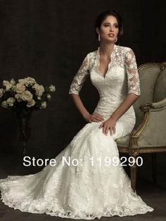 2012 Allure Bridal - Ivory Lace Sweetheart Illusion Sleeves Wedding Gown - 2 - 32 Read this is beautiful! Ivory Lace Wedding Dress, Wedding Gowns With Sleeves, Bridal Lace, Dress Lace, Dress Wedding, Bridal Style, Modest Wedding, Lace Dresses, Camo Dress