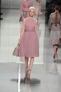 Dior RTW Fall 2012, love the intricate controlled gathers and cummerbund effect.