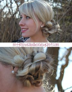 Simple braided bun tutorial, pretty and easy for a work updo. Would be great with a franchise visor!