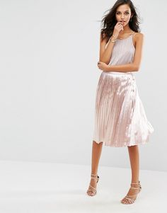 Boohoo Slinky Pleated Midi Skirt | #Chic Only #Glamour Always