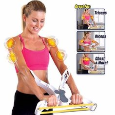 Wonder Arms Exercise Band Upper Body Arm Biceps Shoulders Chest Back Workout Machine Brawn Training Device Fitness Equipment Slim Arms Workout, Chest And Back Workout, Back Workout Machine, Workout Machines, Arm Workouts At Home, Chest Workouts, Body Workouts, Best Home Workout Equipment, Fitness Equipment