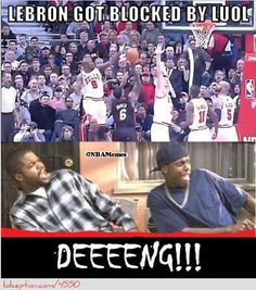 When LeBron James gets PACKED! - http://weheartchicagobulls.com/nba-funny-meme/when-lebron-james-gets-packed