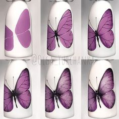 Butterfly Nails Art Tutorial ★If you'd like to switch to self nail designs, these easy nail designs for beginners are the musts! Here, besides cute and simple diy ideas. Nail Designs Easy Diy, Gel Nail Art Designs, Nail Art Designs Videos, Cute Nail Designs, Cute Nail Art, Nail Art Diy, Easy Nail Art, Butterfly Nail Designs, Butterfly Nail Art