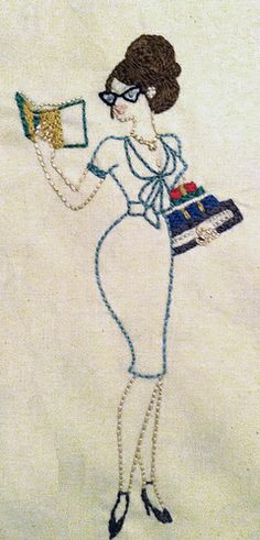 librarian embroidery. Looks just like me!