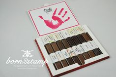 STAMPIN' UP! born2stamp Geschenk fuer Erzieher  - Danke - Watercolor Wings - Gorgeous Grunge - Drehstempel ABC