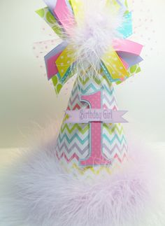 Party Decorations in Stationery & Party - Etsy Home & Living Chevron Birthday, Kylie Birthday, Birthday Party Hats, Girl First Birthday, Birthday Bash, First Birthday Parties, Birthday Ideas, Birthday Supplies, Party Supplies