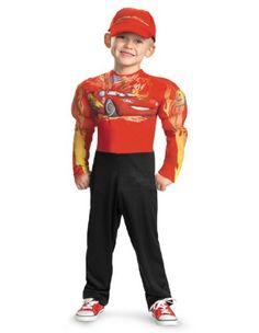 Lightning Mcqueen Classic Muscle Costume  Small 46
