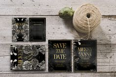 Classic Foliage Wedding Invitation by KlapauciusCo on Creative Market