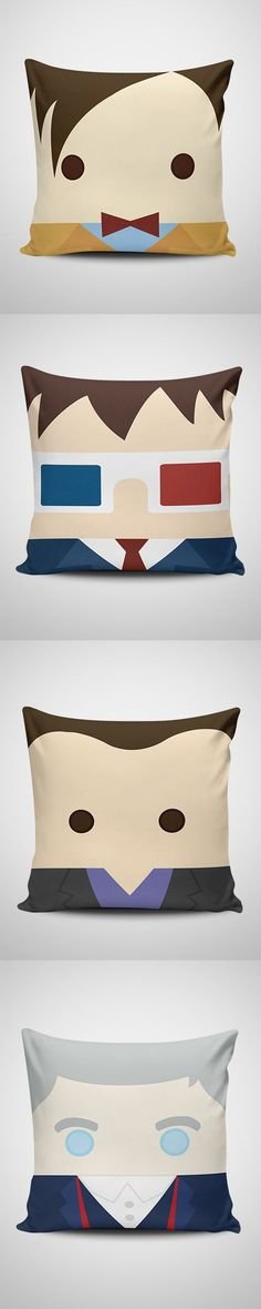 These Doctor Who pillows are pretty awesome.