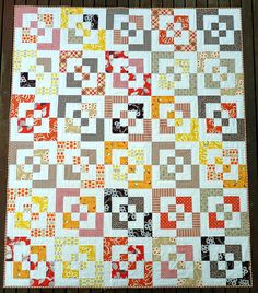 Katie Jump Rope quilt - This is basically a log cabin quilt.
