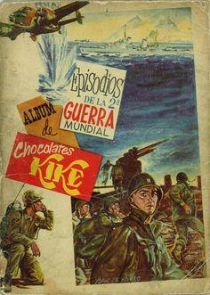 Isaac del Rivero dibujó en 1957 la cubierta del álbum de cromos Episodios de la 2ª Guerra Mundial publicado por Chocolates Kike.