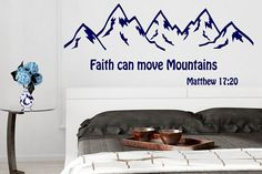 Matthew 17:20  Bible Verse  Decal, Bible Quote Decor, Faith Can Move Mountains Decal, Bible Verse Inspirational Decal, Bible Art nm164 #bibleverse #biblestudy #inspirationalquotes #inspirationaldecals #memes #memesdaily #quotes #quotestoliveby #walldecals #motivationalquotes #biblequotes #familyquotes #meme #roomdecor #diyproject