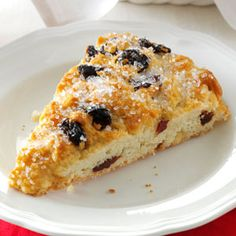 Cherry Chip Scones- reduce sugar; try cranberries; makes very large scones.
