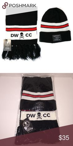 Death Wish Coffee Hat and Scarf Set - NWT Brand new Death Wish Coffee Company Hat and Scarf set.  Black with red and white strips and the logo on both.  No longer available for purchase on their website! Death Wish Coffee Company Accessories Scarves