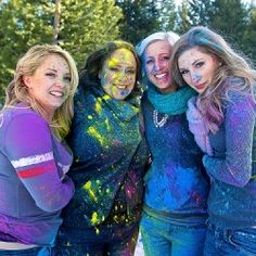 A bachelorette party powder paint fight in this inspired shoot!