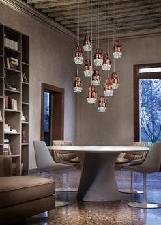 Lampe suspension / contemporaine / en aluminium / en verre - FEDORA by Dima Loginoff - AXO Light