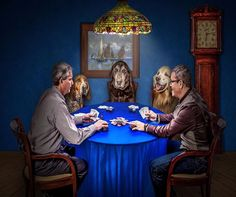 POKER DOGS AND THEIR MASTERS COMPUTER MOUSE PAD 9 X 7  #UnbrandedGeneric