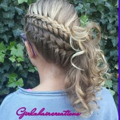 Merged braids hairstyles