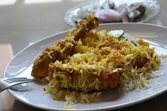 This chicken biryani recipe is straight from the streets of Lucknow. I have a friend from there who is an amazing cook ( and a professional chef) and he swears by this recipe. the Famous Chicken Lucknowi Biryani. Indian Food Recipes, Asian Recipes, Vegetarian Recipes, Cooking Recipes, Rice Recipes, Cooking Food, Recipies, Punjabi Recipes, Arabic Recipes