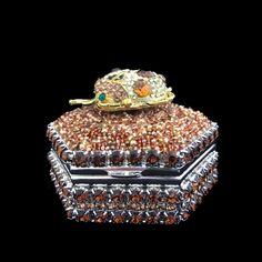 66e7cd466 Topaz Lady Bug Hexagon Box Featuring Swarovski © Crystals / Isabella Adams  Designs