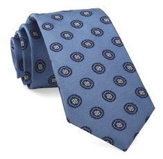 Light Blue Counter Medallions Tie | Ties, Bow Ties, and Pocket Squares | The Tie Bar